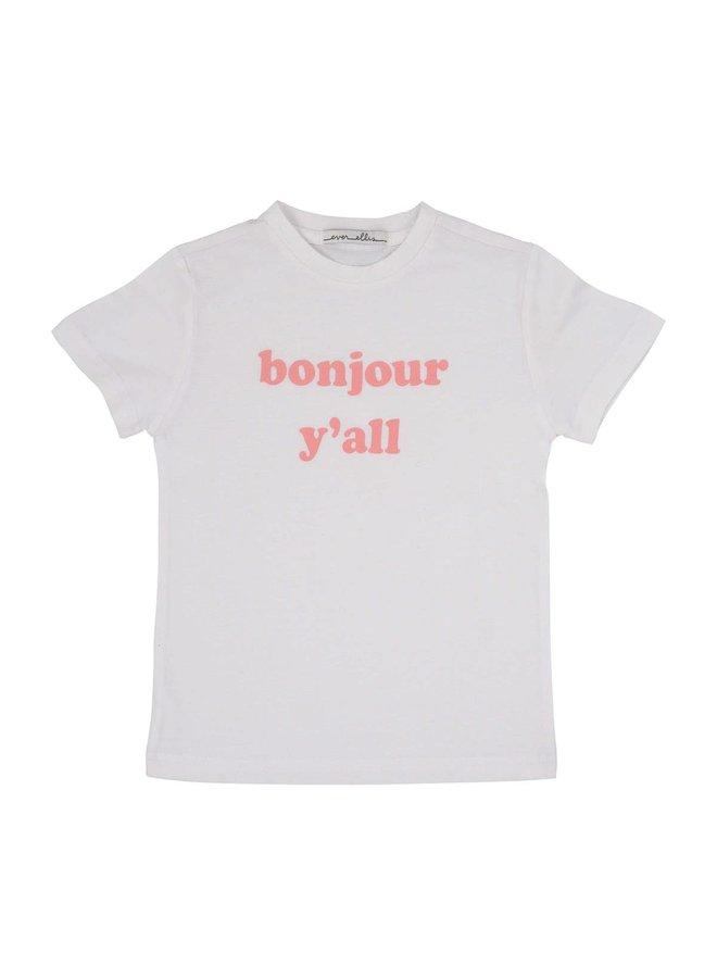 """bonjour y'all"" Kid's Tee - 2T"