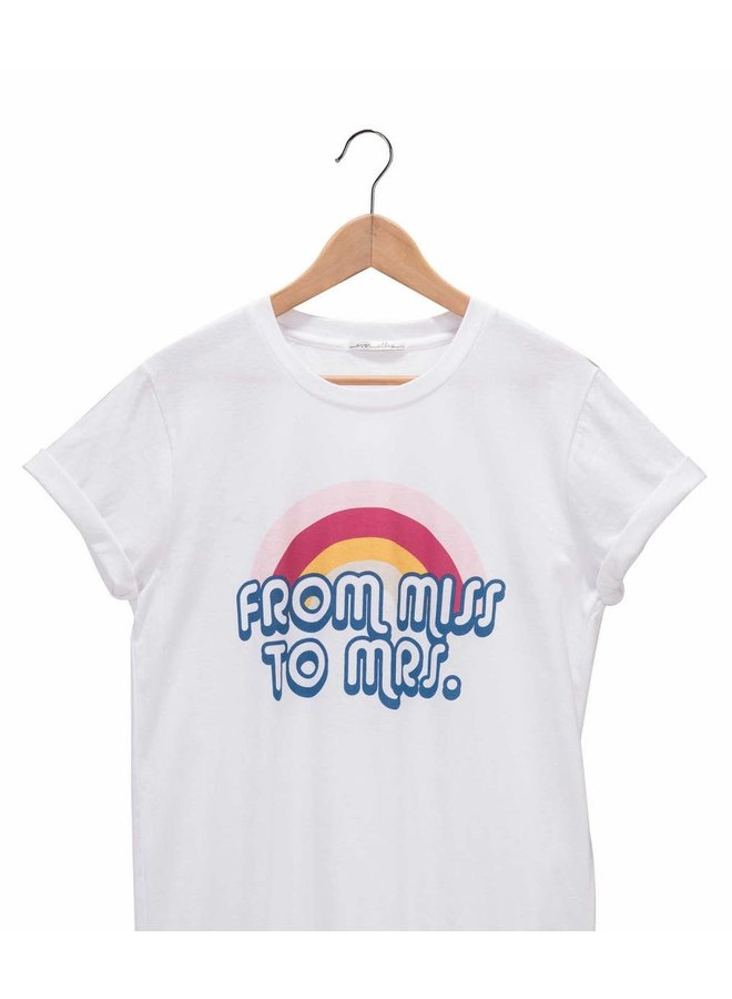 Miss To Mrs Tshirt-Large