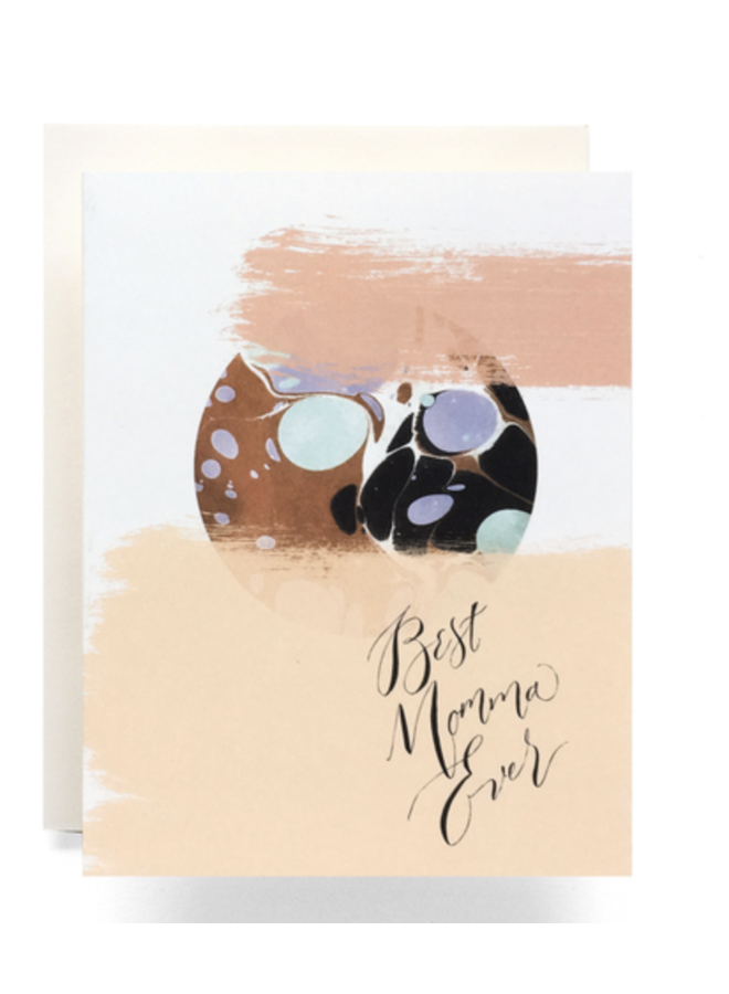Marble Best Mom Card