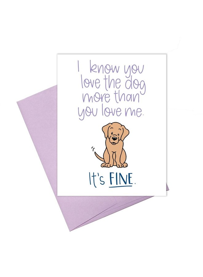 Love The Dog Card