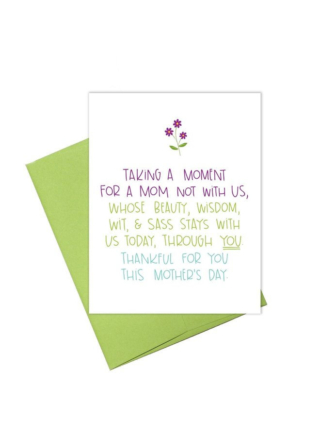 Taking A Moment Card