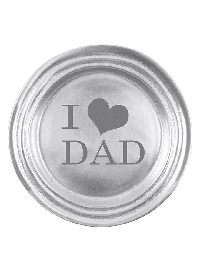 I Heart Dad Classic Wine Plate