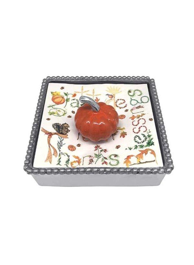 Pumpkin Beaded Napkin Box