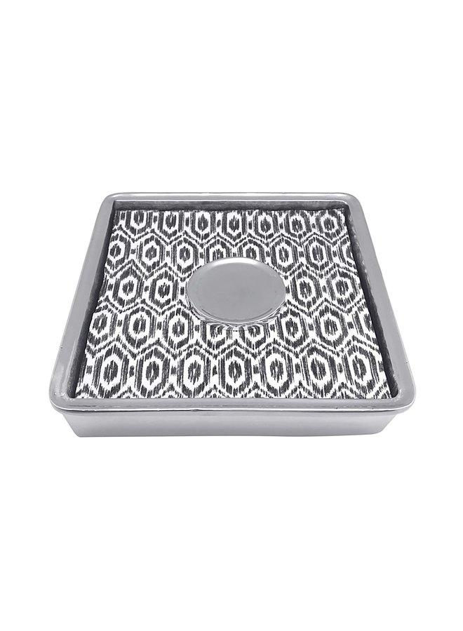 Black Ikat Signature  Luncheon Napkin Box