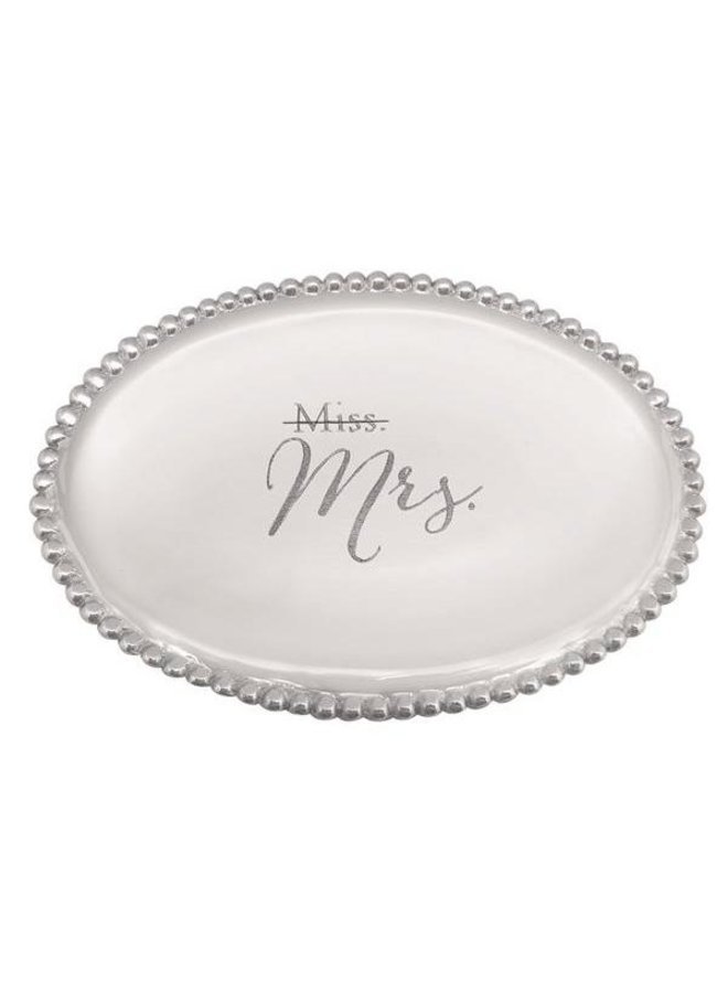 Miss To Mrs Oval Tray
