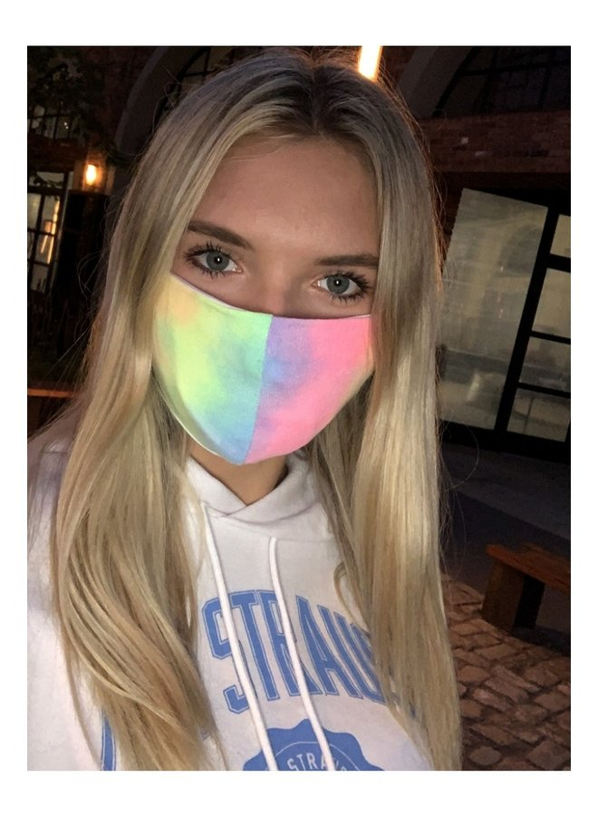 Adult Face Mask- Rainbow Tie Dye