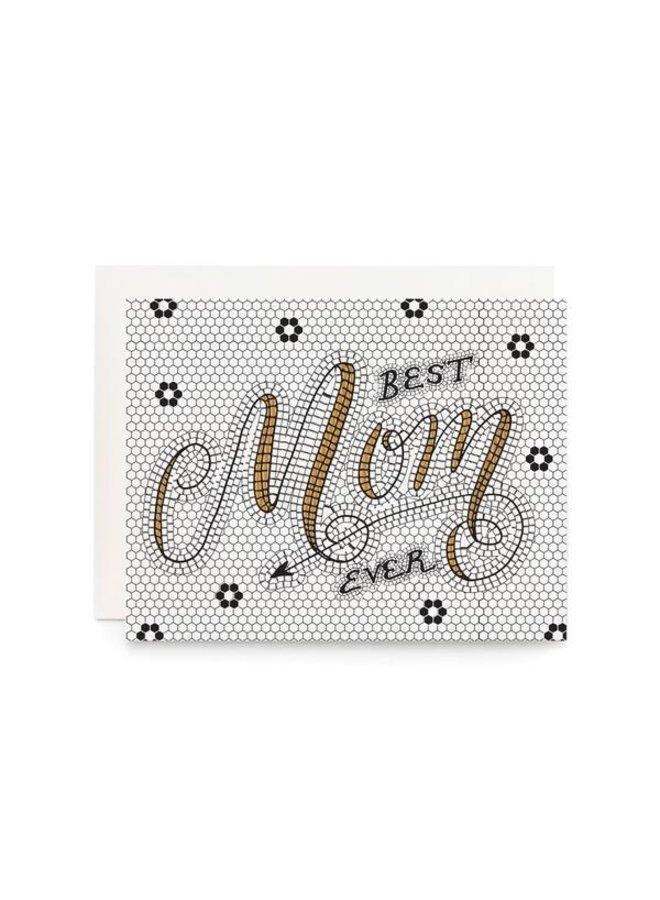Best Mom Ever Tile Card