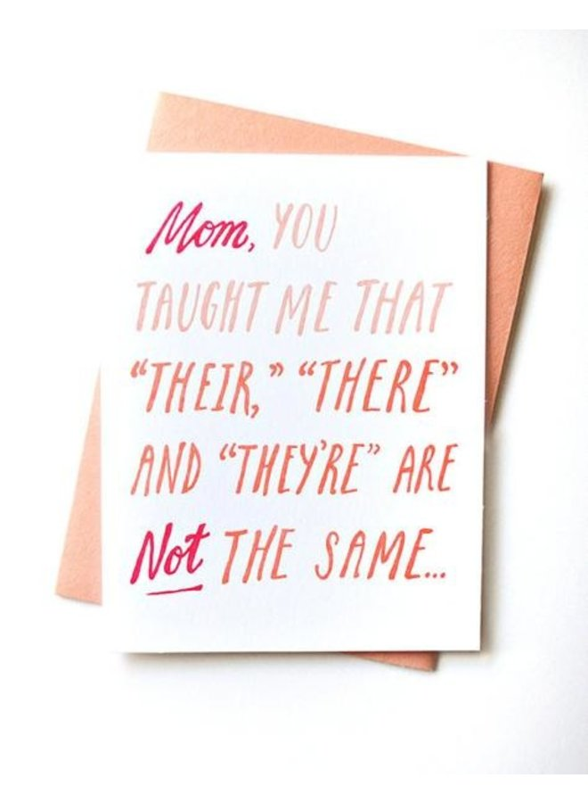 Mom Grammar Card
