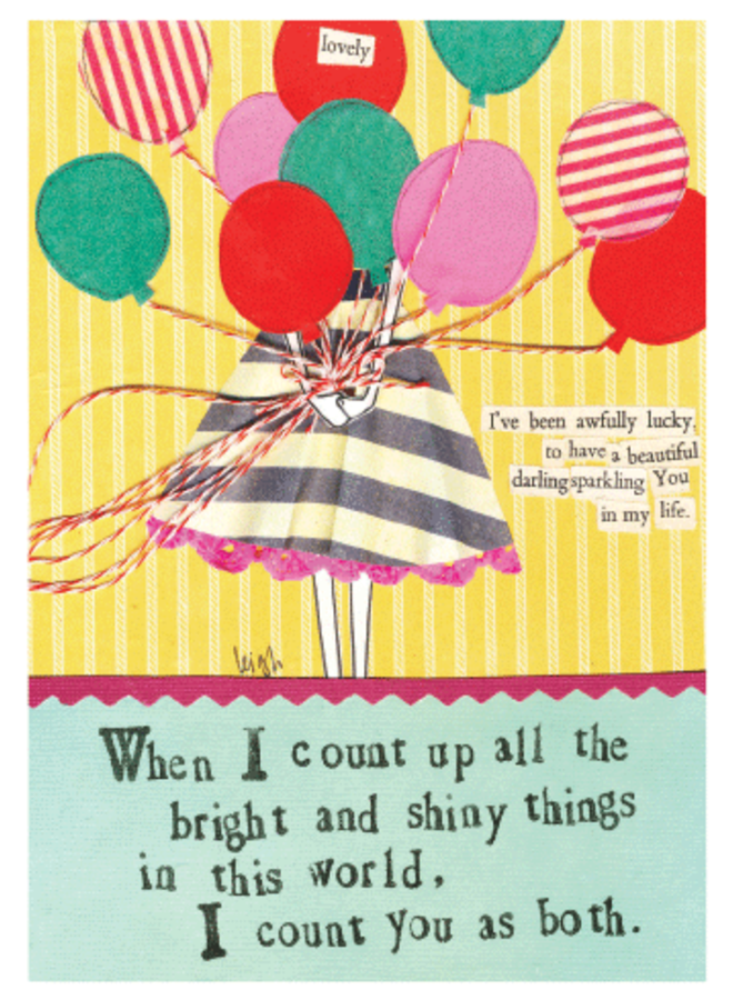 Bright and Shiny Things Card
