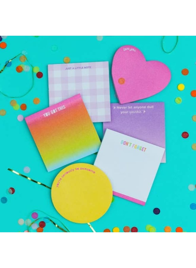 Sticky Note Assortment, 6 pieces