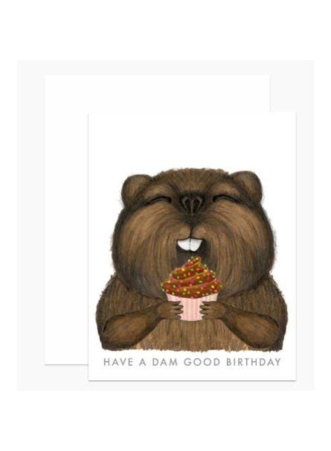 Beaver Birthday Card