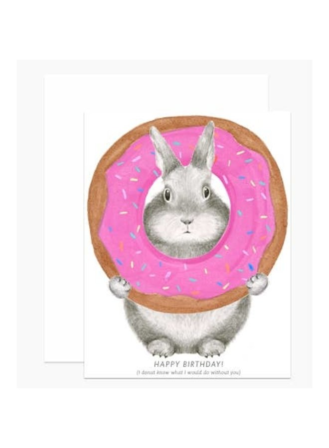 Donut Bunny Birthday Card