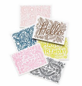 Rifle Paper Co. Assorted Letterpress (set of 6)