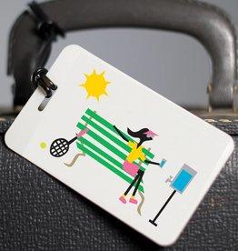 R. Nichols Tennis Luggage Tag