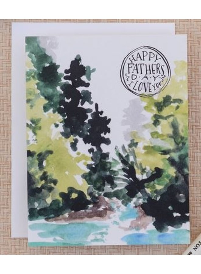 Mountain Stream Father's Day Card
