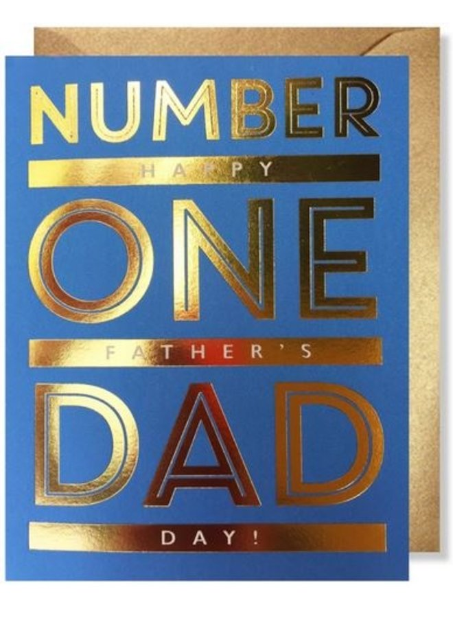 Father's Day #1 Dad Card