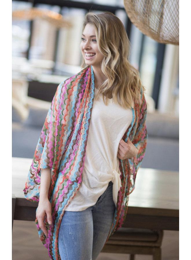 Scalloped Crochet Kimono