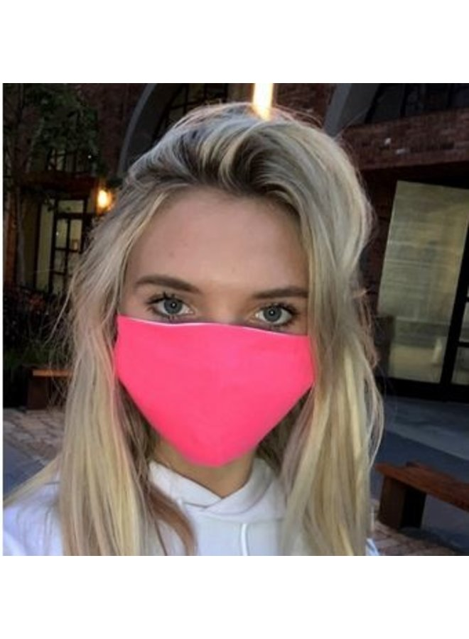 Adult Face Mask- Neon Pink