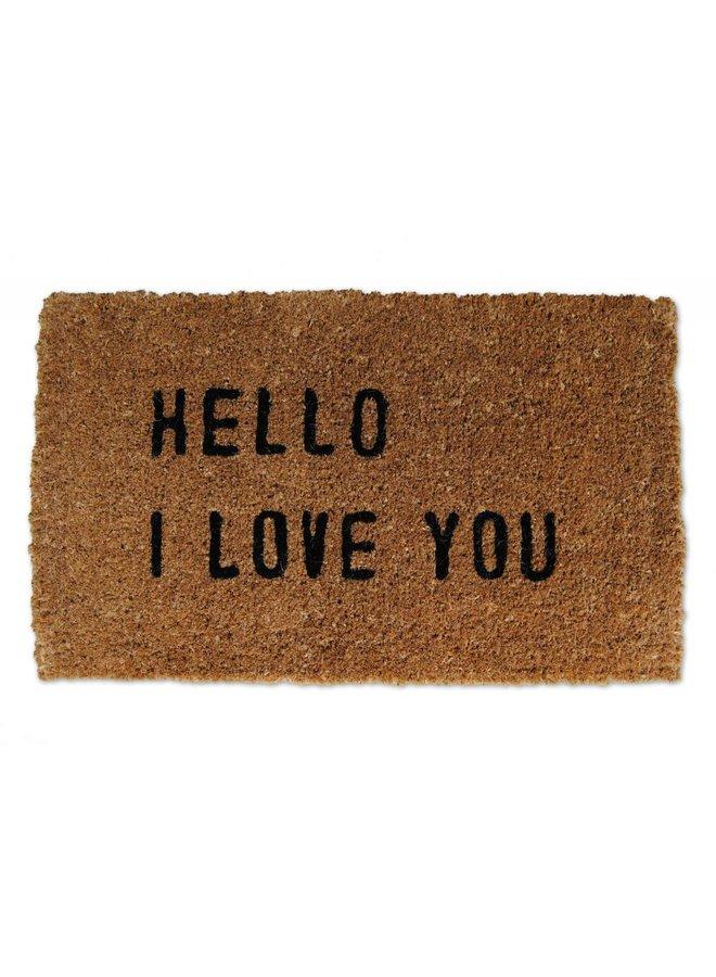 Hello I Love You Door Mat