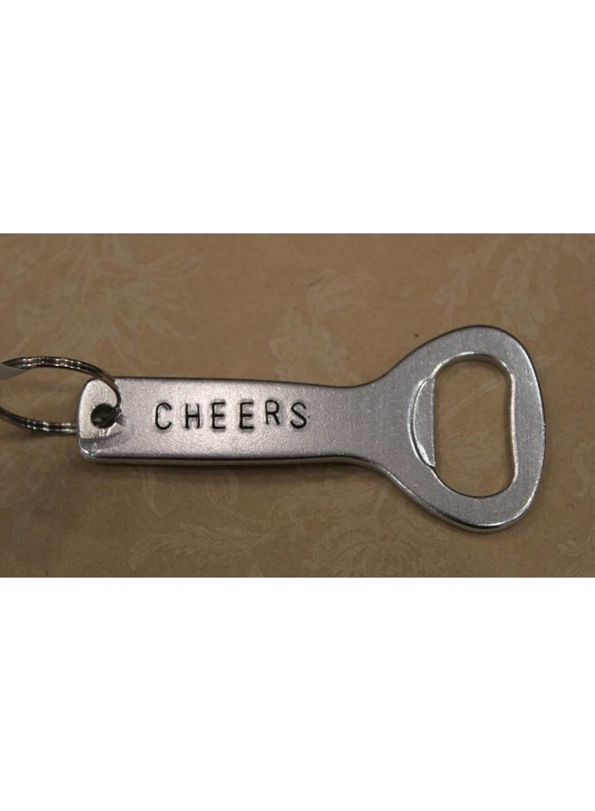 """Cheers"" Bottle Opener Keychain"