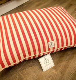 Harry Barker Medium Hemp Vintage Stripe Envelope Bed in Red