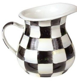 MacKenzie-Childs Courtly Check Enamel Creamer
