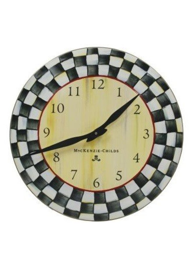 Courtly Check Enamel Clock
