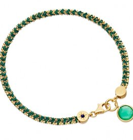 Astley Clarke Let's Dance Bracelet With Green Quartz