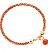 Astley Clarke Rebel Rebel Bracelet With Coral