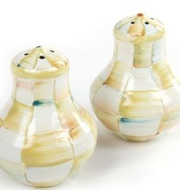 MacKenzie-Childs Parchment Check Salt & Pepper Shakers