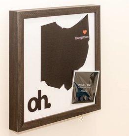 Petal Lane State of Ohio Magnet Board- Ebony