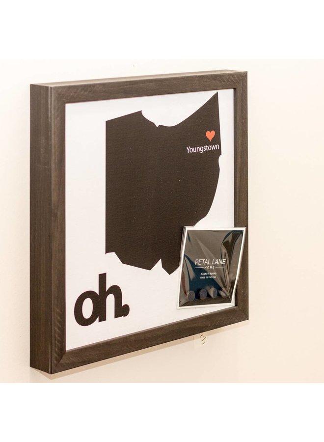 State of Ohio Magnet Board- Ebony