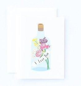 Paula & Waffle Message in a Bottle Love Card