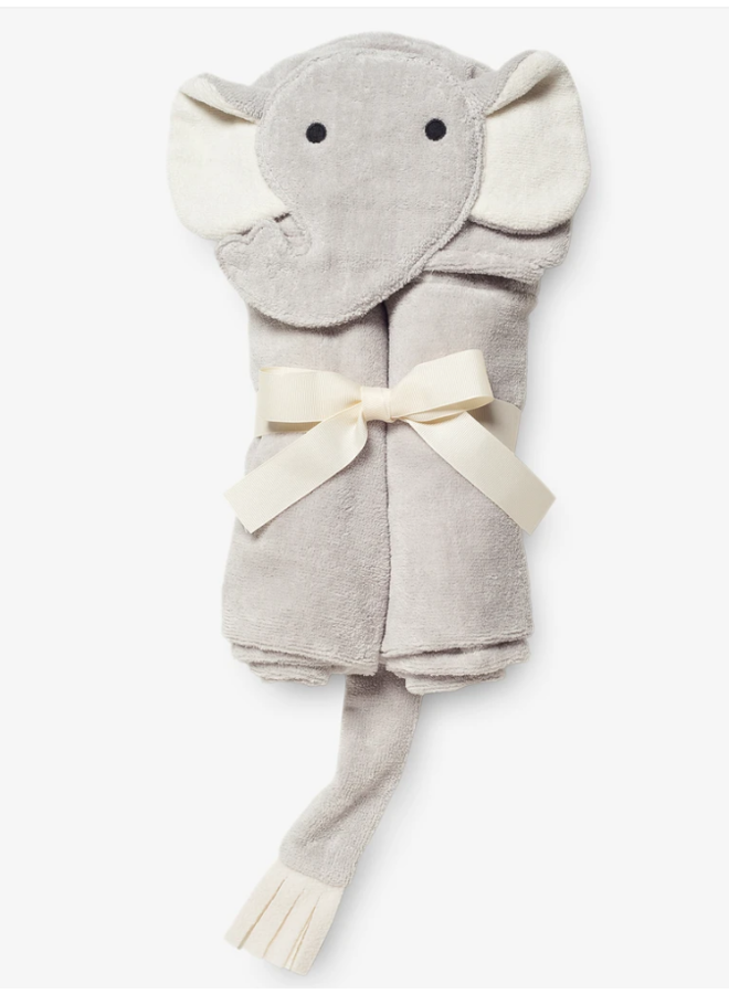 Bath Wrap- Gray Elephant