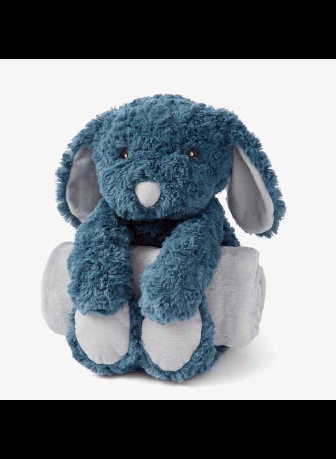 Bedtime Huggie- Teal Puppy Swirl