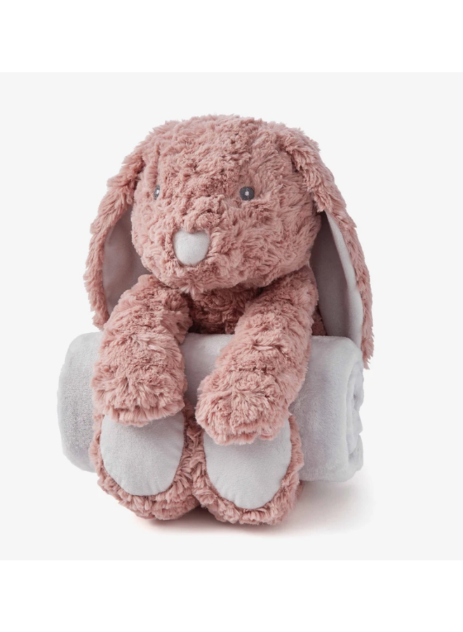 Bedtime Huggie- Mauve Bunny Swirl