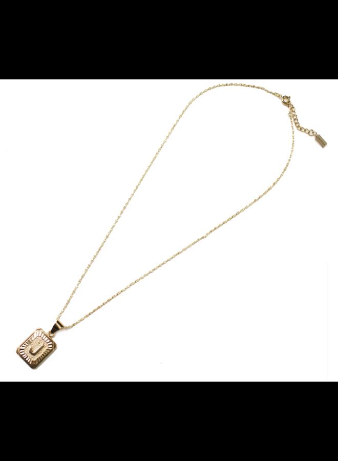 Initial Vintage Letter Necklace