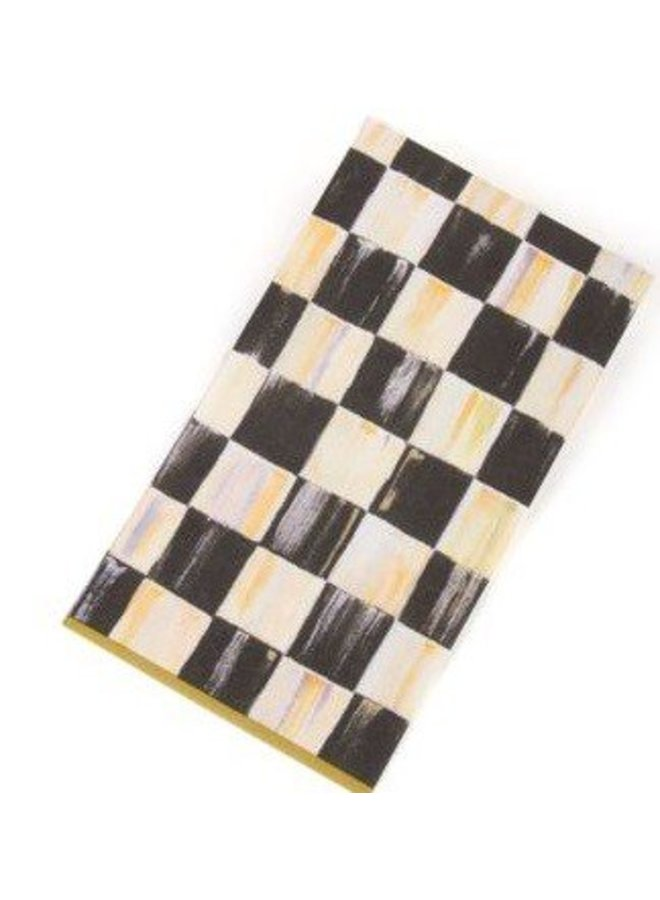 Courtly Check Paper Napkins - Guest - Gold
