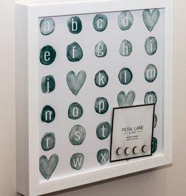 Petal Lane Alphabet Watercolor Magnet Board