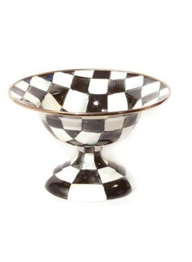 Courtly Check Enamel Compote- Small