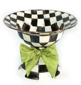 MacKenzie-Childs Courtly Check Large Compote