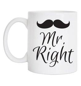 Tickled Teal Mr Right Mug