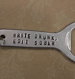 "Kimberly Monaco Designs ""Write Drunk, Edit Sober"" Bottle Opener Keychain"