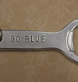 "Kimberly Monaco Designs ""Go Blue"" Bottle Opener Keychain"