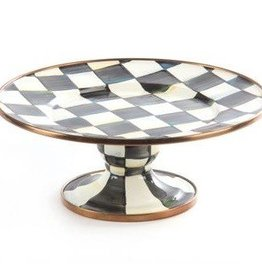 MacKenzie-Childs Courtly Check Pedestal Platter - Mini