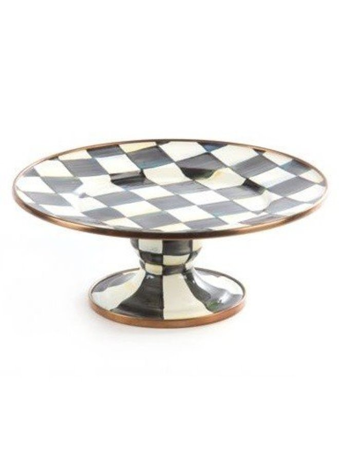 Courtly Check Pedestal Platter - Mini