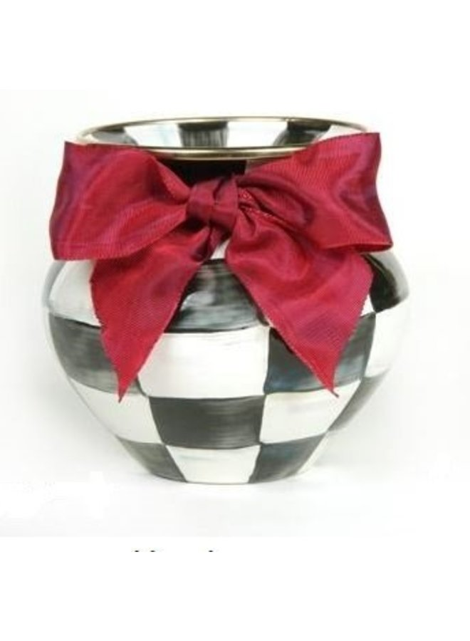 Courtly Check Vase-Red Bow