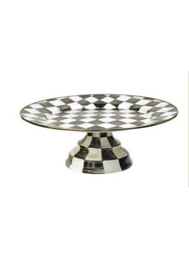 Courtly Check Large Pedestal Platter