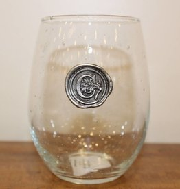 Southern Jubilee Stemless Wine Glass-Initial C