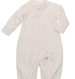 Elegant Baby Cream Elephant Convertible Gown 0-3 Months